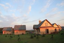Free Group Of Small Houses Royalty Free Stock Photos - 5542268
