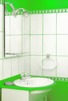 Free Green Bathroom Detail Stock Images - 5542624