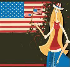 Free Beautiful American Girl 2 Stock Image - 5542651