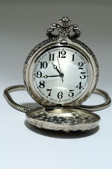 Classic Pocket Clock Stock Photography