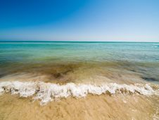 Empty Beach And Waves Royalty Free Stock Image