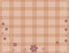 Free Mauve Plaid Floral Background Royalty Free Stock Photos - 5544248