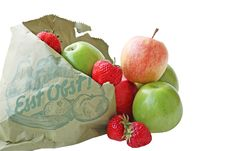 Free Apple And Strawberrys Stock Photography - 5545442