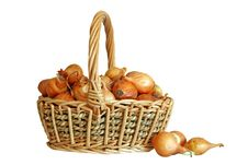 Free Onions In Basket Royalty Free Stock Images - 5545529