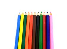 Free Lot Of Color Pencils Stock Photo - 5546130