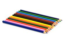 Free Heap Of Color Pencils Royalty Free Stock Image - 5546206