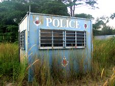 Abandoned Police Post Stock Photos