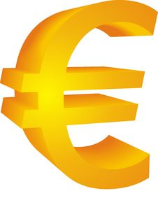 Shape Of Euro Currency Royalty Free Stock Images
