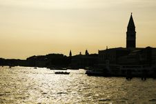 Free Sunset In Venice Royalty Free Stock Photos - 5547208