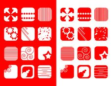 Red And White Icons Royalty Free Stock Photos