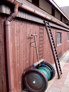 Equipment On The Farm Stock Photos