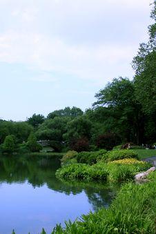 Free Bridge In A Park Stock Photo - 5548460