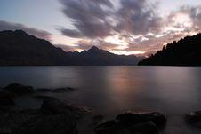 Free Sunset Lake Wanaka Royalty Free Stock Images - 5548809
