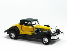 Free Yellow Toy Car 3 Royalty Free Stock Image - 5549636
