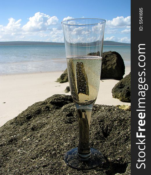 Champagne at Beach