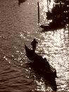Free Venice: Gondolier Stock Photography - 5550982
