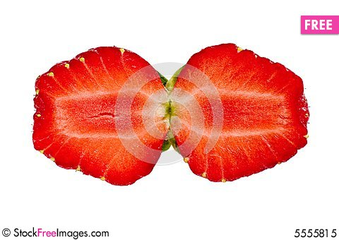 Free Strawberry Twin Halfs Royalty Free Stock Photo - 5555815