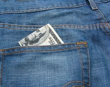 Free Money And Jeans 5 Stock Photo - 5550230