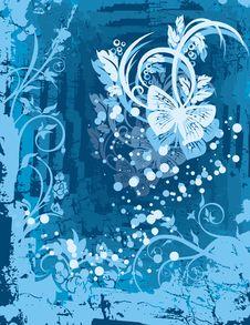 Free Floral Grunge Background Stock Image - 5550241