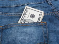 Free Money And Jeans 6 Royalty Free Stock Images - 5550309