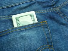 Free Money And Jeans 7 Stock Image - 5550311