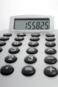 Free Electronic Calculator Royalty Free Stock Images - 5550819