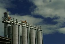 Brewery Grain Silos Stock Images