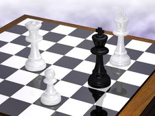 Free The End Of A Chess Party Royalty Free Stock Photos - 5551028