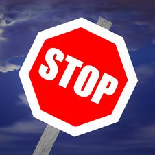 Free Warning Sign - STOP Stock Image - 5551031