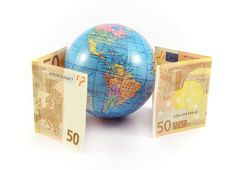Euro Money Globe Planet Royalty Free Stock Photos