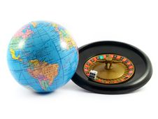 Free Globe Roulette Gamble Planet Earth Stock Photo - 5551290