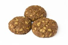 Free Cocoa Cookie With Oat-flakes Royalty Free Stock Photography - 5551367