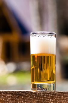Beer Goblet With Beer Stock Photo
