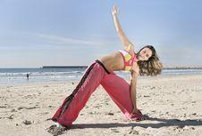 Free Woman Stretching Stock Image - 5552261