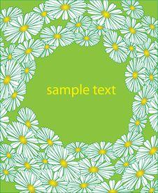The Flower Sample. Vector Illustration Stock Photography