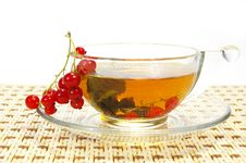 Free Currant And Tea In A Transparent Cup Royalty Free Stock Photo - 5552455