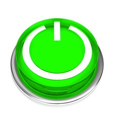 Isolated Power Button 01 Stock Photos