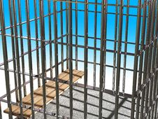 Metal Cage 3d, Concept Of Jail 03 Stock Images