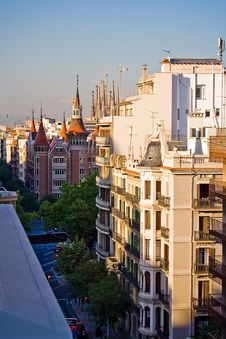 Free Streets Of Barcelona, Spain Royalty Free Stock Images - 5553689