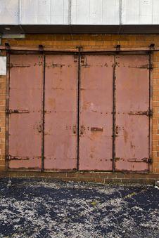 Free Steel Door With Ductwork Stock Photography - 5554942