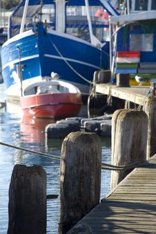 Boat In Habour Royalty Free Stock Photography