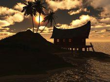 Free Sunset On Sea Royalty Free Stock Photo - 5555285