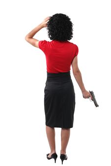 Free Woman And Gun Royalty Free Stock Photography - 5555647
