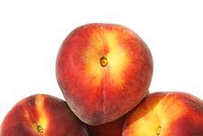 Three Peaches Royalty Free Stock Photos