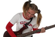 Free Girl With Guitar Stock Photography - 5556252