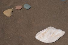 Free Four Rock On Beach Stock Photography - 5556832