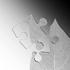 Free Leaf Jigsaw Abstract Royalty Free Stock Photos - 5558338