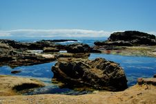 Free Rocks At The Low Tides Stock Image - 5558541