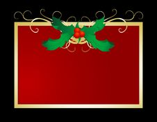 Free Holly Christmas Cover Royalty Free Stock Photo - 5558685