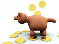 Free Piggy Bank Royalty Free Stock Photography - 5558857
